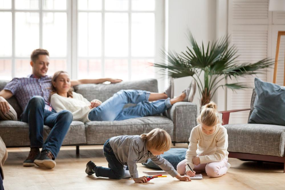 Family enjoying their indoor air quality