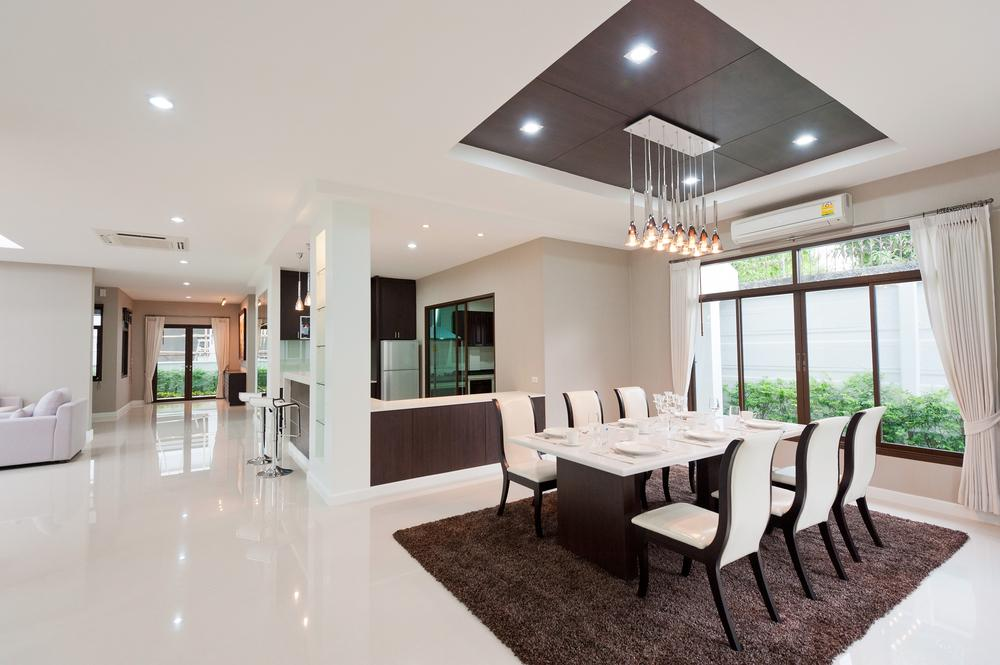 Modern home with LED lighting