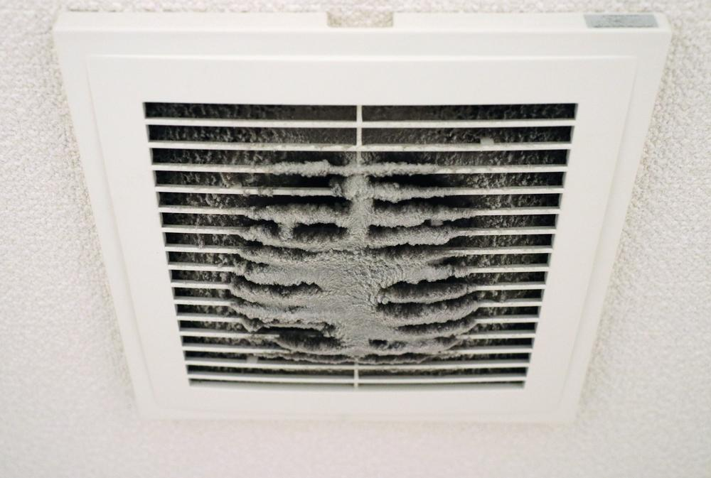 clogged up ventilation and air ducts