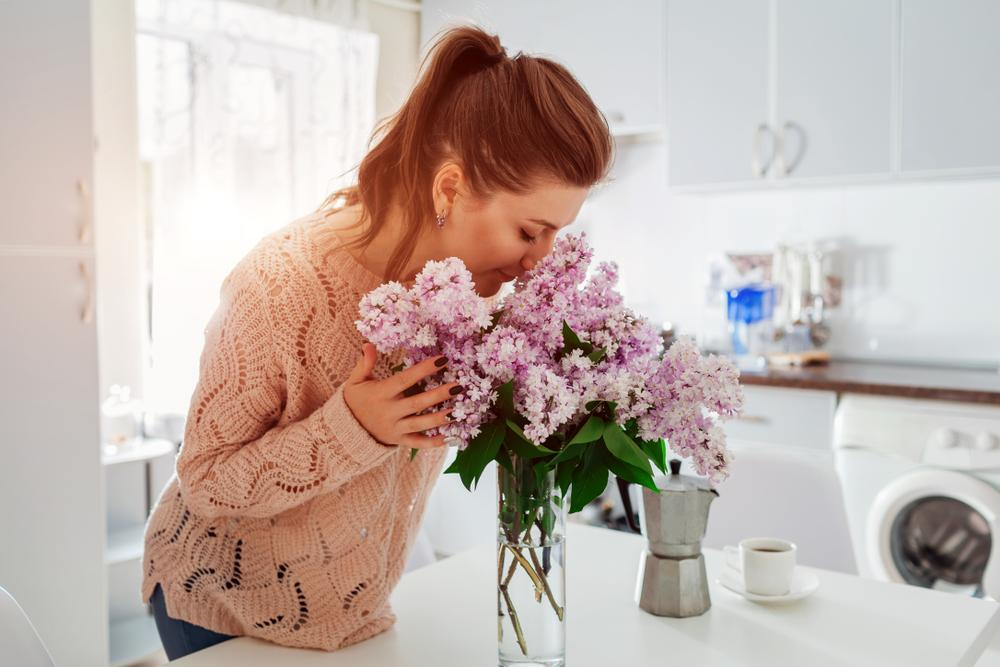 woman enjoying her indoor air quality
