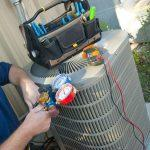 AC repair being done by a service provider