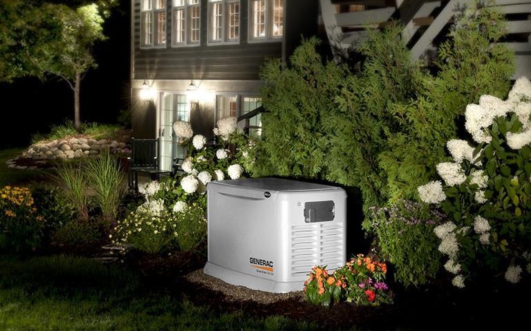 outdoor generator set up