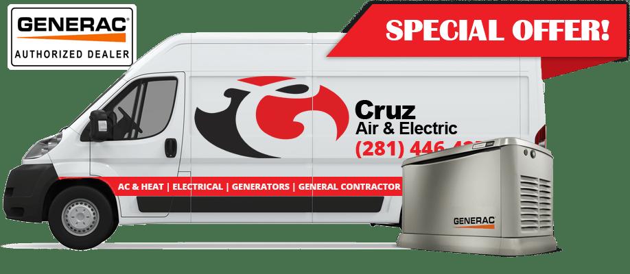 cruz air & electric special offer ad