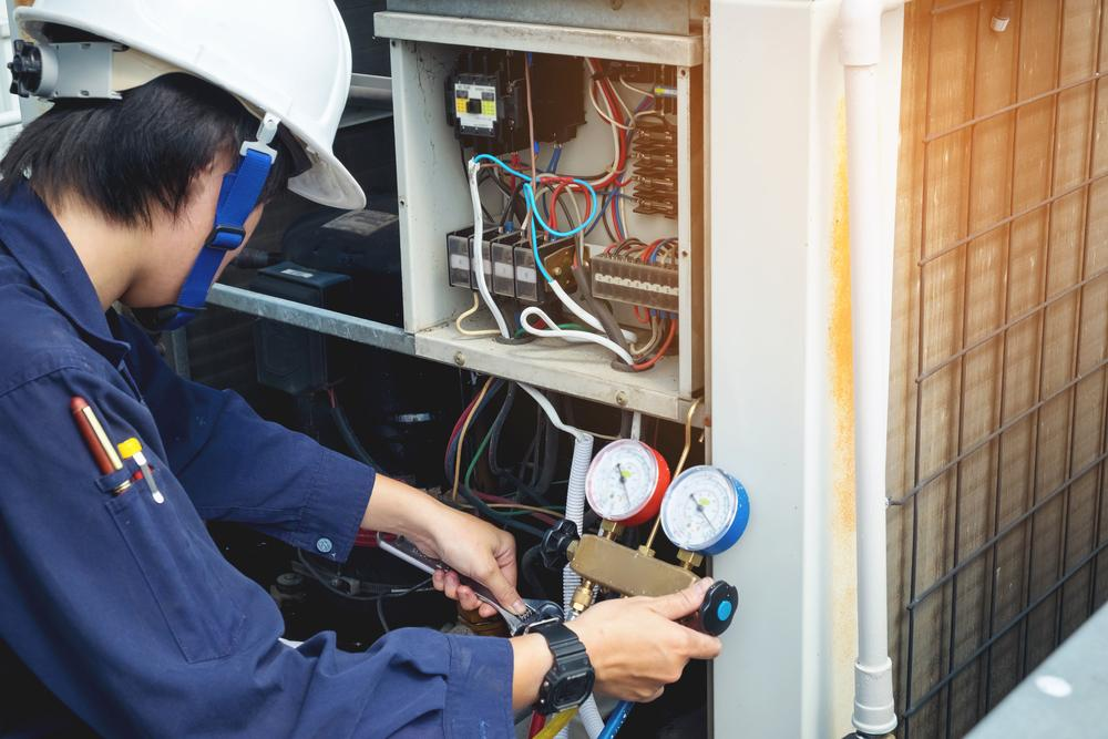 hvac contractor testing ac levels