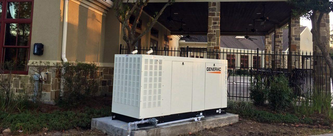 Newly installed home generator system